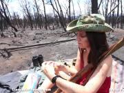 Amateur wife sucks cock in the Apocalypse. lol