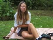 teen in outdoors