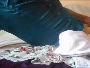 handjob and big cumshot on clothes + slow motion