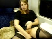 19 years old masturbates in train - german - csm
