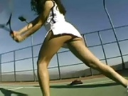 Catalina Hot Threesome On The tennis Court