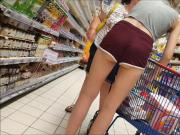 nice girl with super sexy shorts