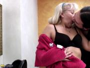Granny fucked hard in ALL holes by lucky dude