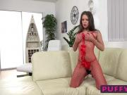 Brunette cutie Lita Phoenix enjoys having beads in her pussy