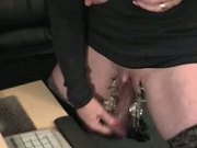 Very horny granny weird sex on webcam