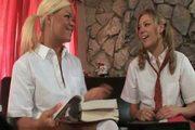 Lesbian Schoolgirls : Crista & Nicole.