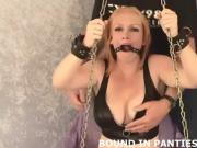 Mayra gets bound and gagged by a cruel stranger