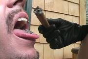 Brianna Beach - Cigar smoking