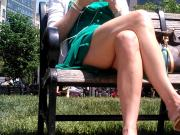 green dress at park