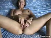 MILF wife fucking herself