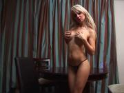 Hot Busty Blonde oils up & Toys