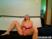 Teen Kaylee Rain bends over to show you her sweet tight ass