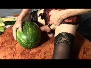 Sissy Watermelon and Veggie Fuck Fest