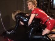 Madame C pegs her rubber doll BellaAngelica