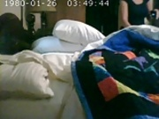 Spycam of wife as she videos hersel on phone
