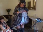 Madame C adds electrics to Angelica's chastity