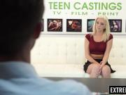 Sexy blonde teen Tiffany Watson broken by casting director