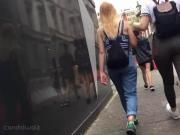 Candid Walk 40 - Two Teen Friends