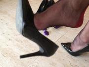 Dangling Black Heels