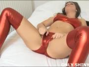 Jerk off to me in nothing but my shiny red PVC panties