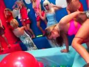 Bi sex dolls fucking at a hot party
