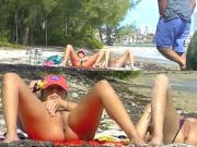 Voyeurchamp.com Exhibitionist Wives Tease Voyeur Beach Cocks