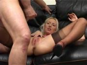 Blonde gets anal and cum over pussy