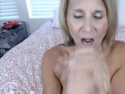 Dirty talking mom Ainslee with big melons loves to get down