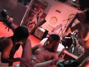 Carolina Abril, Coral Joice, Yarisa Duran y Rob Diesel orgy