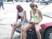 Austrian Girl Pissing In Public