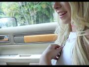 Sexy Blonde Sucks in the car