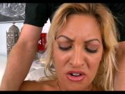 Horny Latina MILF gives head