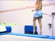 Teen Gymnastics Model Trampoline Fail