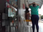 Sexy jeans at the bus stop - voyeur part01