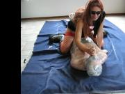 sadobitch - breath and dildoplay with my wrapped doll