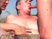 Outdoor perverse Euro mature porn party