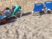 Topless girls on Poniente beach, Benidorm