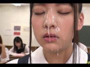 Abe Mikako Gets Massive Bukkake Face In Classroom Continual