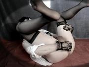 CD-Veronica - sissy plays chastity + plug HD