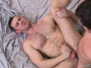 Hot guy waking up his buddy by sucking his cock