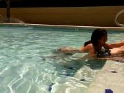 Swallowing by the pool