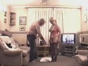 57 year old milf sucks cock on her knees