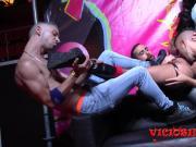 Comida de culo en el Salon Erotico de Barcelona