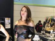 japanese car show girl sheer dress