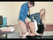 Young Blonde Intern is Horny at Work