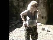 Blonde outside piss.mp4