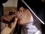 Sinful nun getting off on fat cock