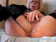 Hot Fisting Grandma