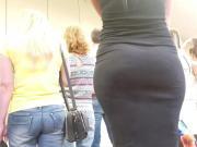 Big armenian ass in black dress