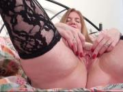 Busty mature play with pussy
